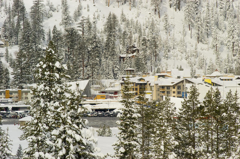 squaw śnieżna dolina obrazy royalty free
