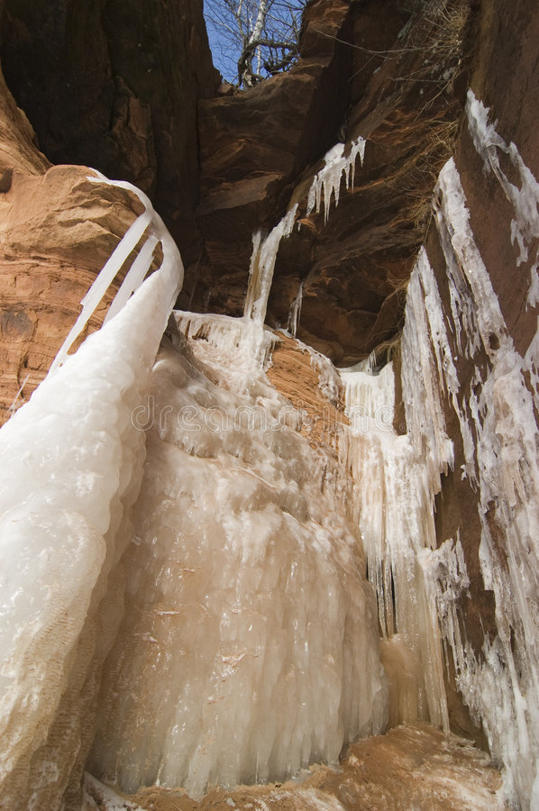 Squaw Bay Ice Caves royalty free stock photography