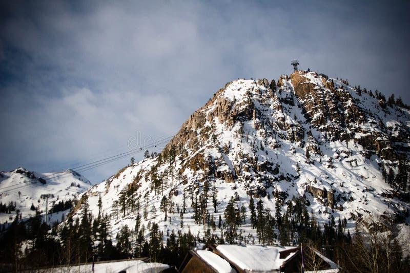 Squaw Valley Ski Resort. Mountain at Squaw Valley Ski Resort stock photos