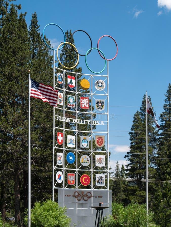 Squaw Valley USA royaltyfri bild