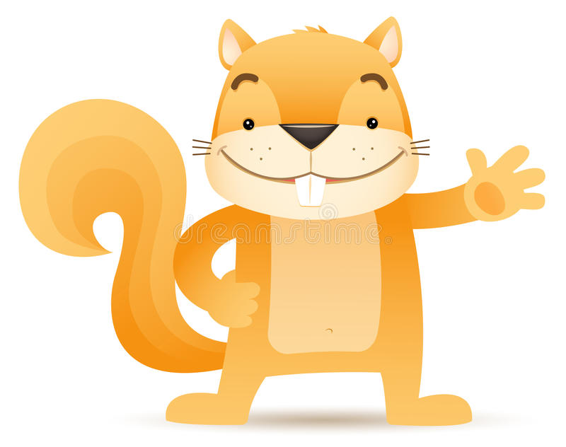 Download Sque The Squirrel Waving Hand Stock Photo - Image: 24725260