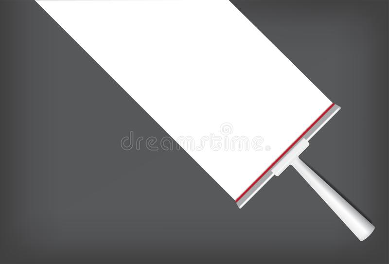 Squeegee Mock up Realistic Cleaning Object. For Household Wiper Thing Background. Squeegee Mock up Realistic Cleaning Object. For Household Wiper Thing Vector royalty free illustration