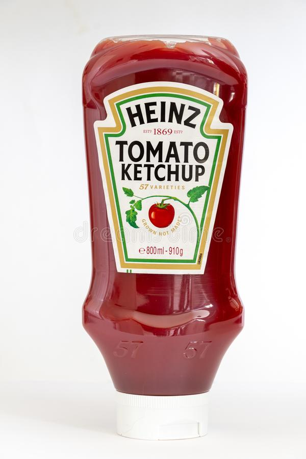 Squeezable bottle of Heinz Tomato ketchup royalty free stock image