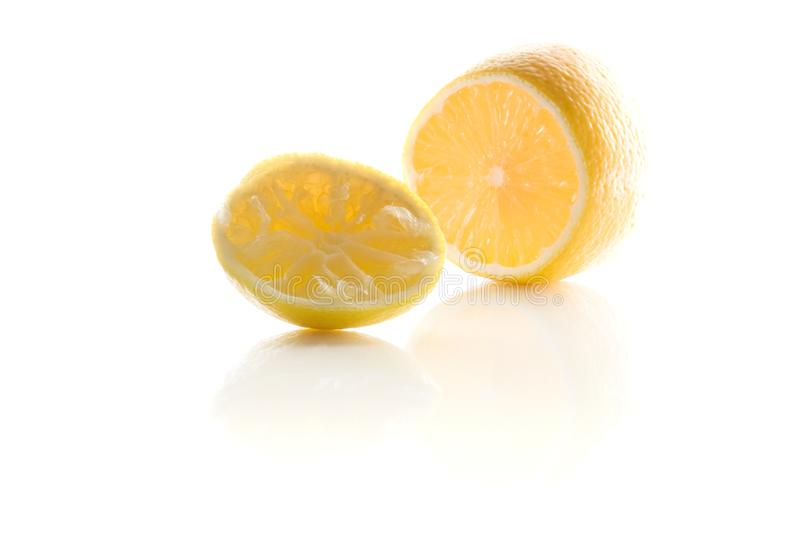 Squeezed lemon royalty free stock photography
