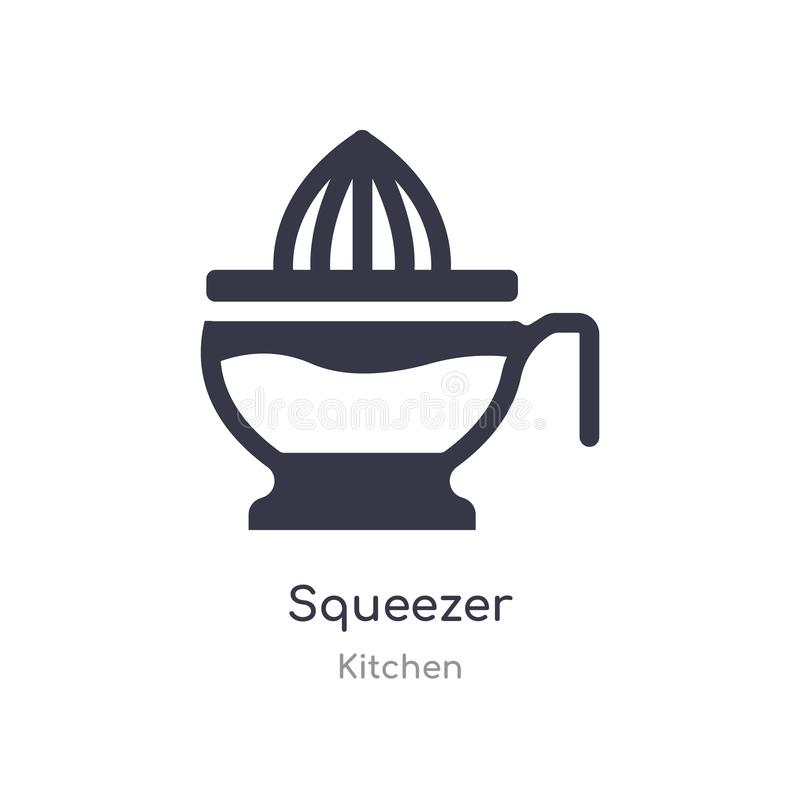 Squeezer icon. isolated squeezer icon vector illustration from kitchen collection. editable sing symbol can be use for web site. And mobile app stock illustration