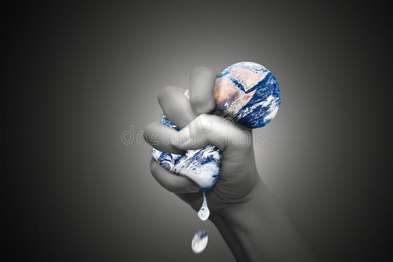 Squeezing the Earth royalty free illustration