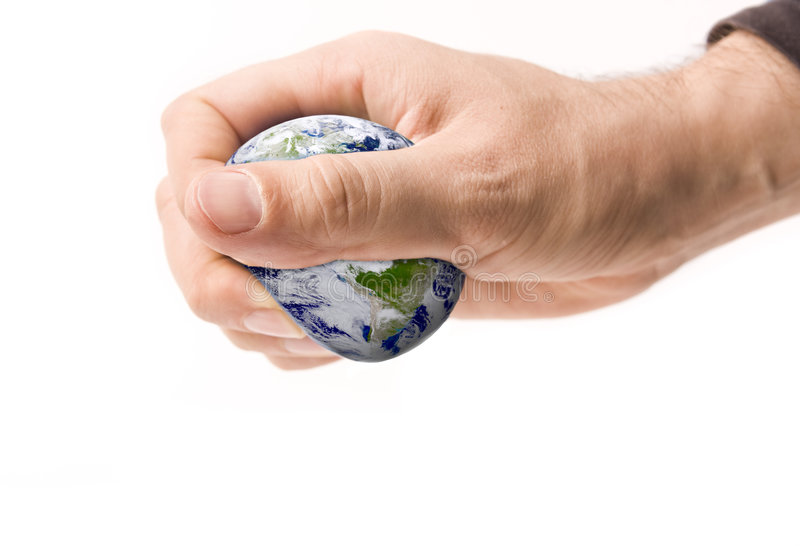 Squeezing Earth stock images