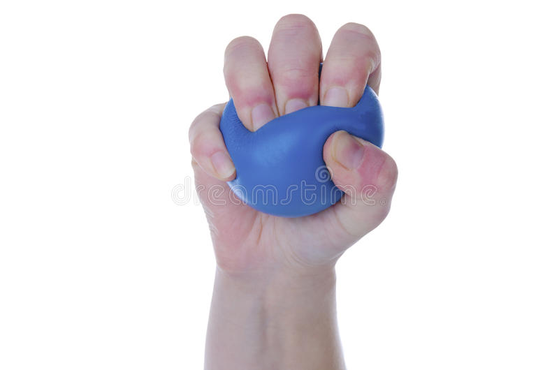 Squeezing stress ball stock image