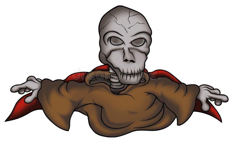 Squelette d'ordinateur de secours illustration de vecteur