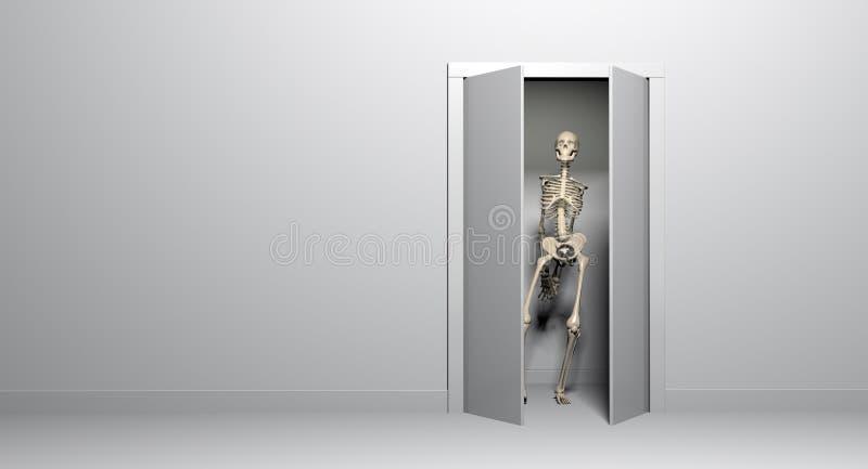 Squelette de cabinet illustration stock