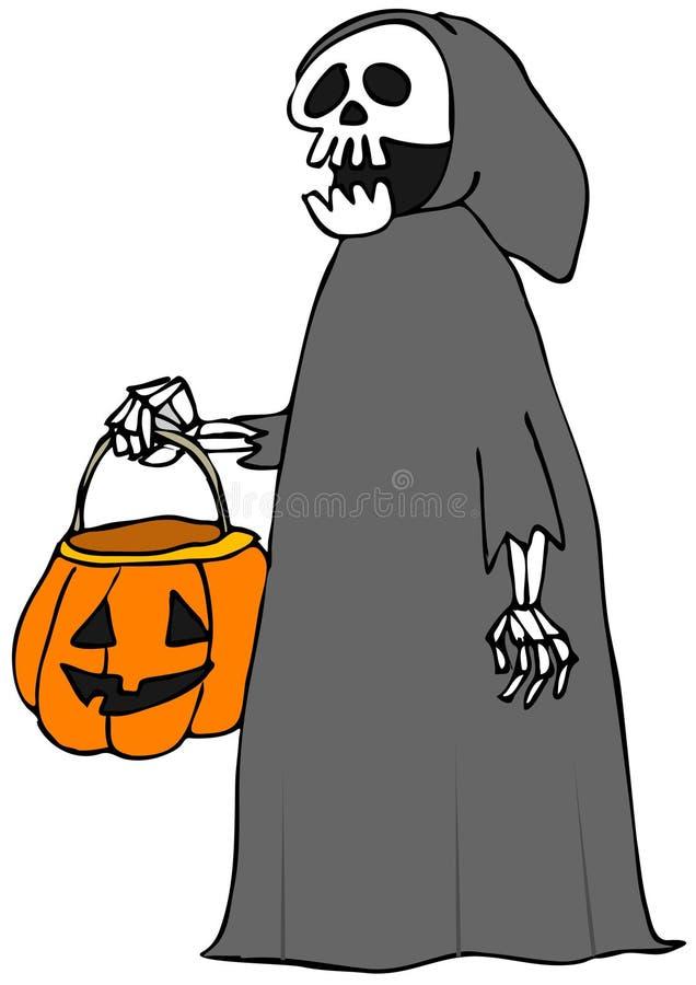 Squelette de des bonbons ou un sort illustration libre de droits