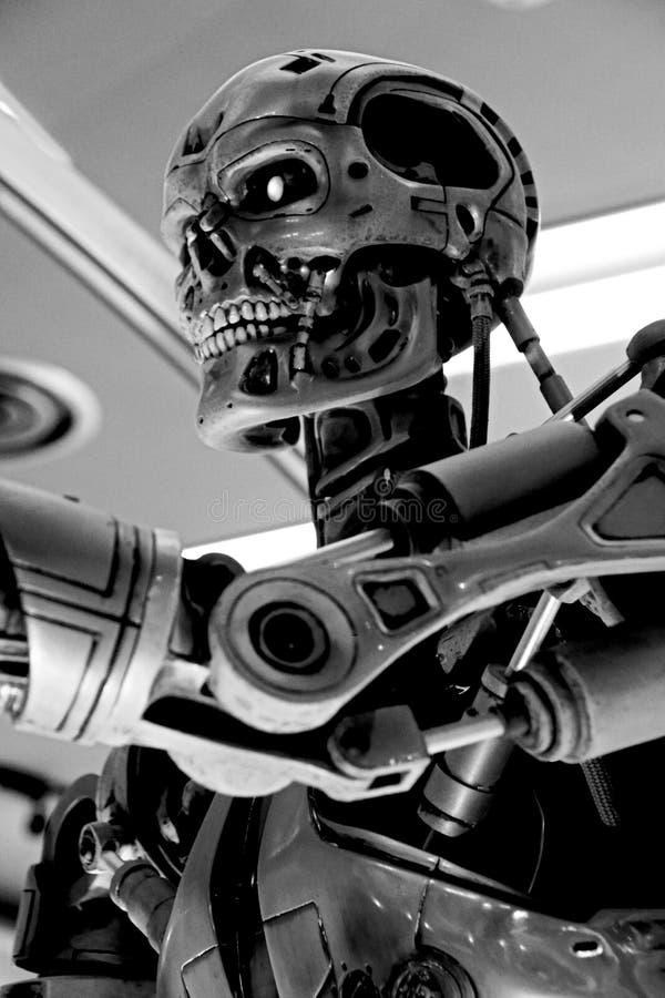 Squelette de l'extrémité T-800 images stock
