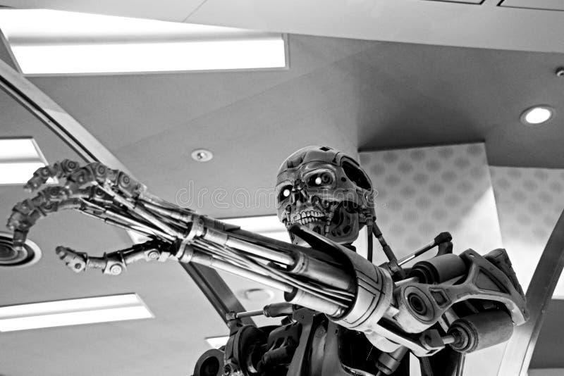 Squelette de l'extrémité T-800 photographie stock