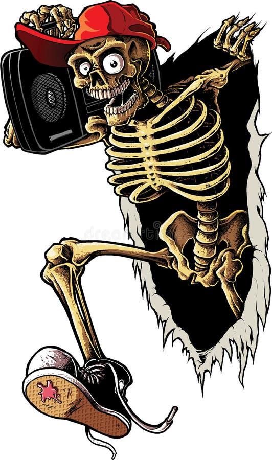 Squelette de réception photo stock