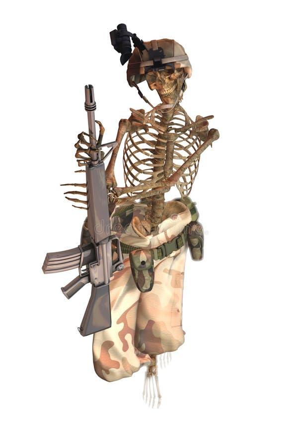 Squelette de soldat illustration de vecteur