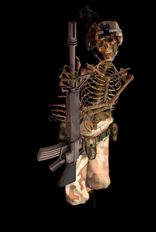 Squelette de soldat illustration stock