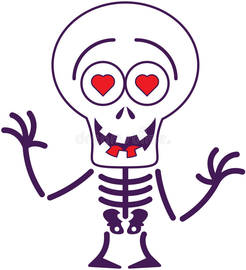 download squelette mignon de halloween dans lamour illustration de vecteur illustration du passionnant - Squelette Halloween