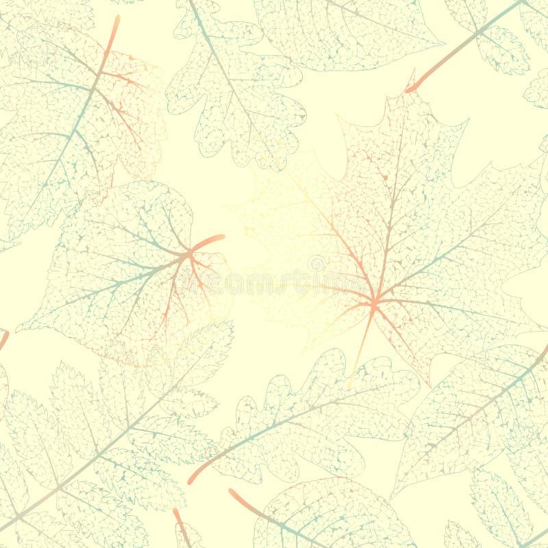 Squelettes de feuille sans couture ENV 10 illustration de vecteur