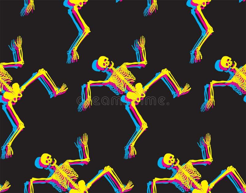 Squelettes drôles illustration stock