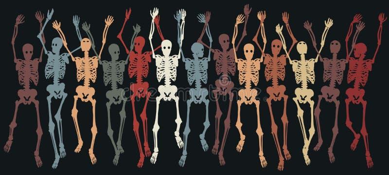 Squelettes ensemble illustration de vecteur