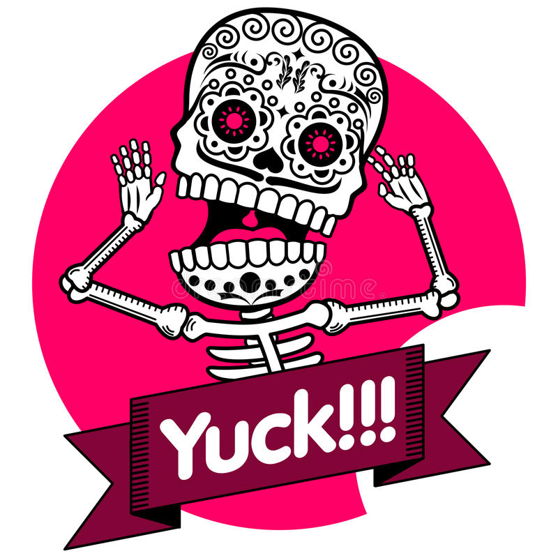 squelettes T-shirt yuck illustration de vecteur