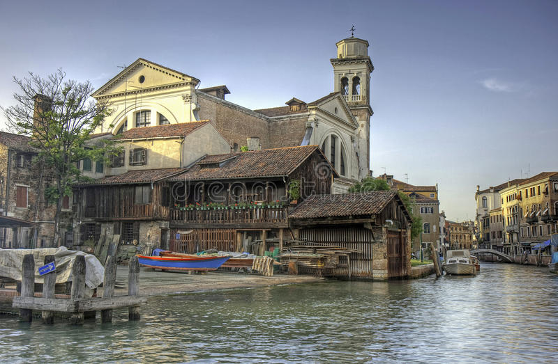 Squero Di San Trovaso, Venice royalty free stock photos
