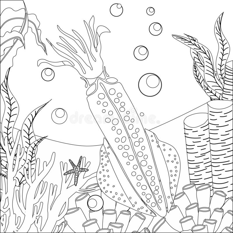 Kraken Maze for ads line drawing   Line drawing, Coloring pages ...   800x800