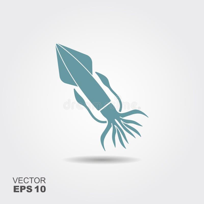 squid Plan vektorsymbol vektor illustrationer
