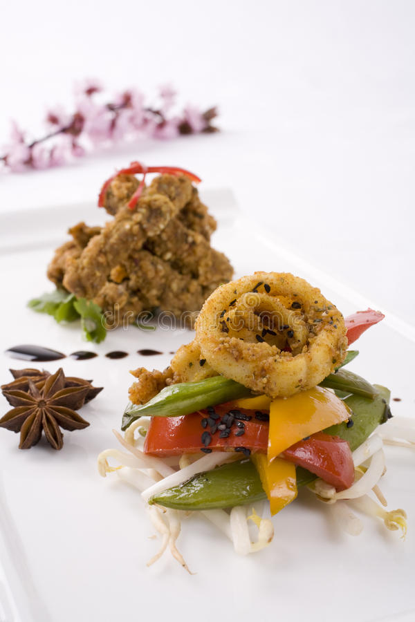 Download Squid And Vegetables Royalty Free Stock Image - Image: 9663516