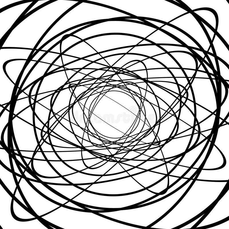 Free Squiggle, Squiggly Circles, Ovals, Lines. Spiral Made Of Random Royalty Free Stock Photo - 81795885