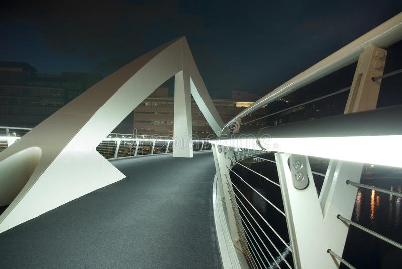 Download Squiggly Bridge In Glasgow Royalty Free Stock Photography - Image: 15944087
