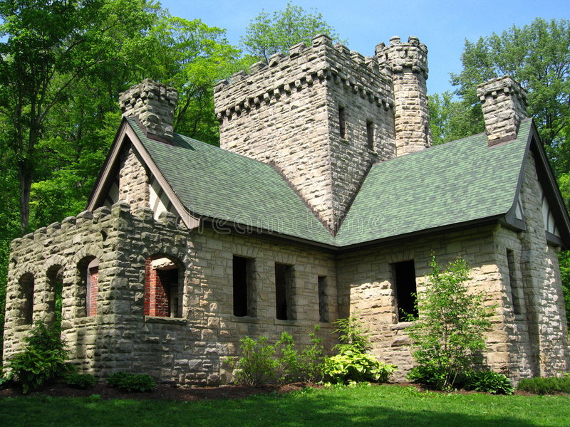 Squire Kasteel in Cleveland, Ohio, Metroparks royalty-vrije stock afbeelding