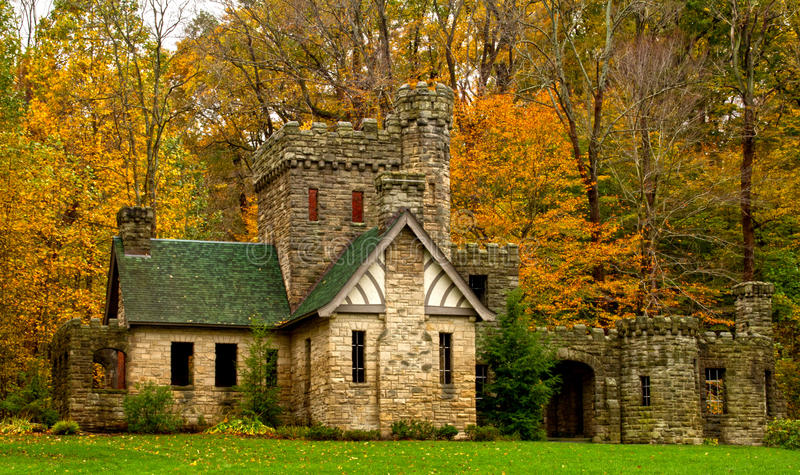 Squire's Castle in the fall. royalty free stock photos