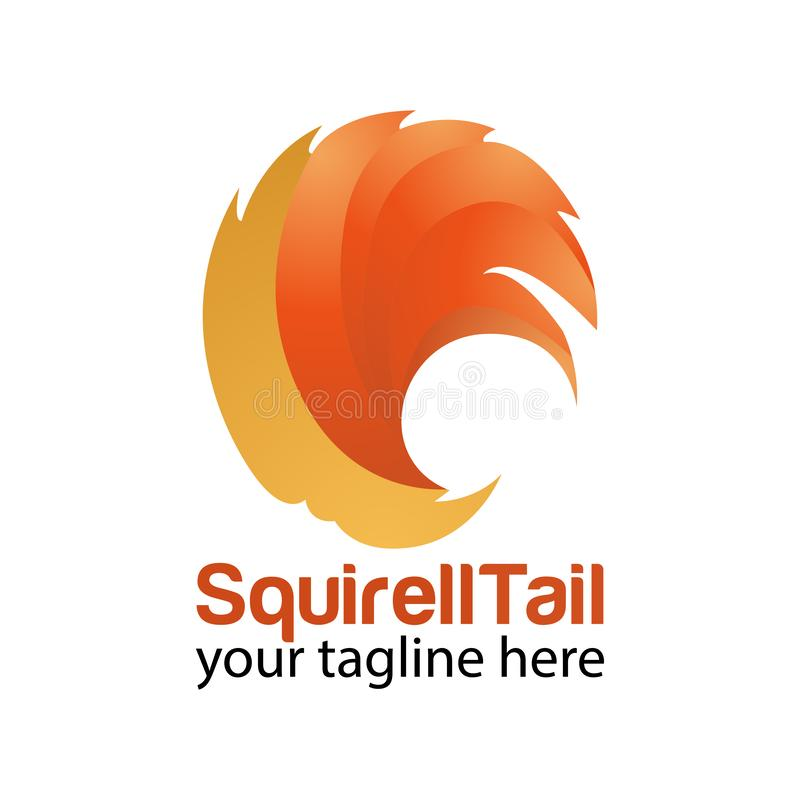 Squirell tail logo design template royalty free stock images