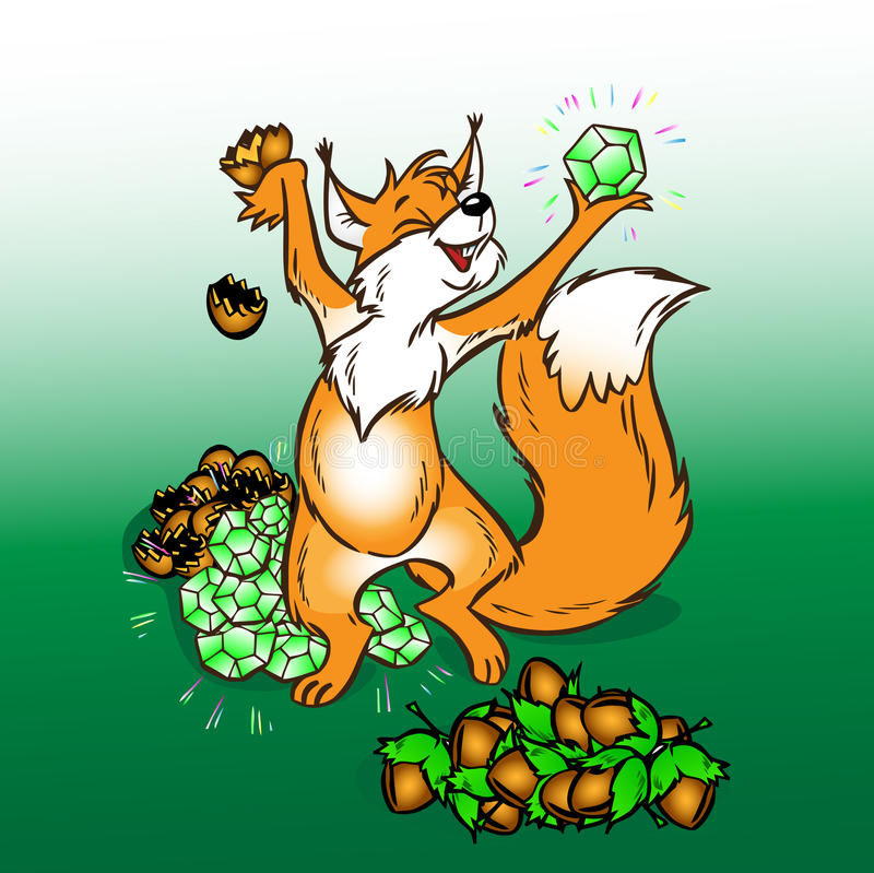 Download The squirrel stock vector. Image of leaves, laughter - 13568266