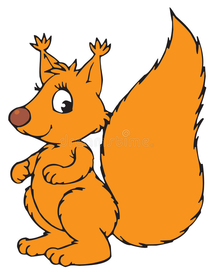 Squirrel Cartoon Character royalty free illustration