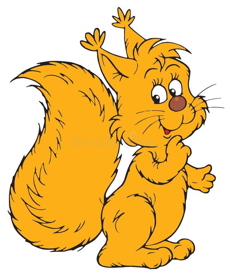 Squirrel (clip-arte di vettore) royalty illustrazione gratis