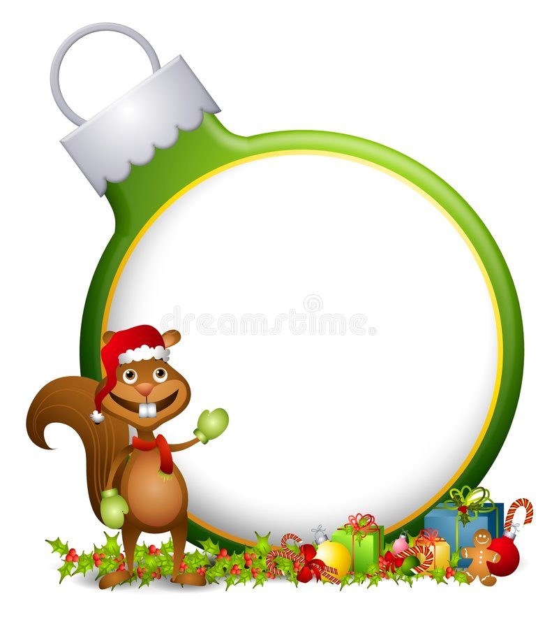 Squirrel Ornament Background vector illustration