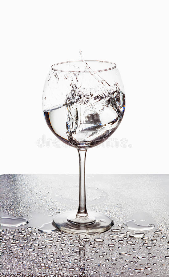 Squirt in glass royalty free stock photo