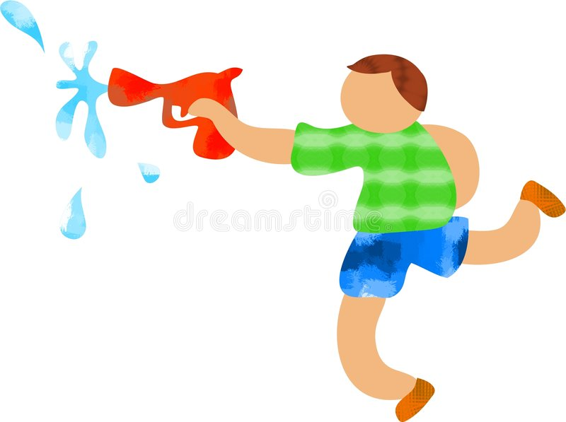 Download Squirty Gun stock illustration. Image of games, life, illustrations - 180474
