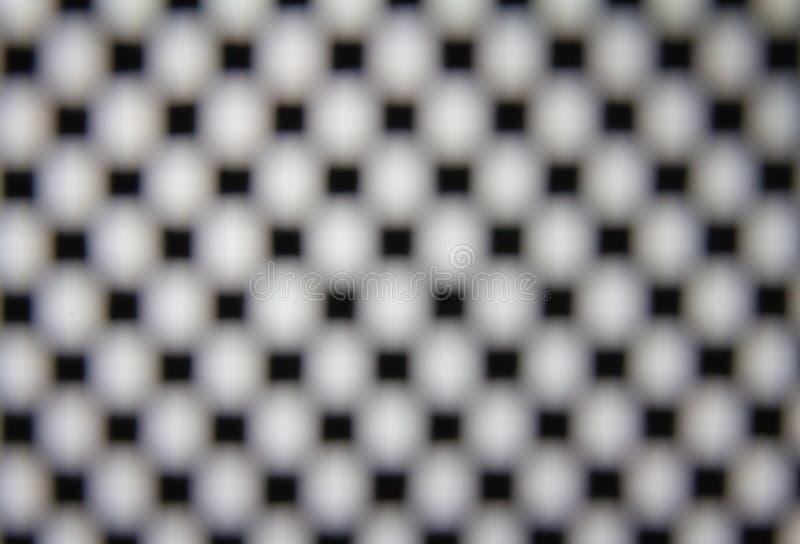 Squre kropki siatka z plamy ostrością zdjęcie stock