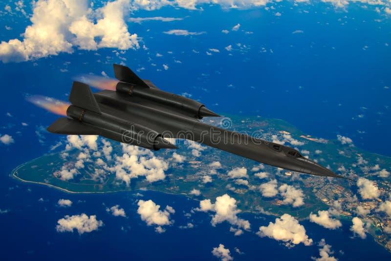 SR-71黑鹂间谍飞机 免版税库存图片