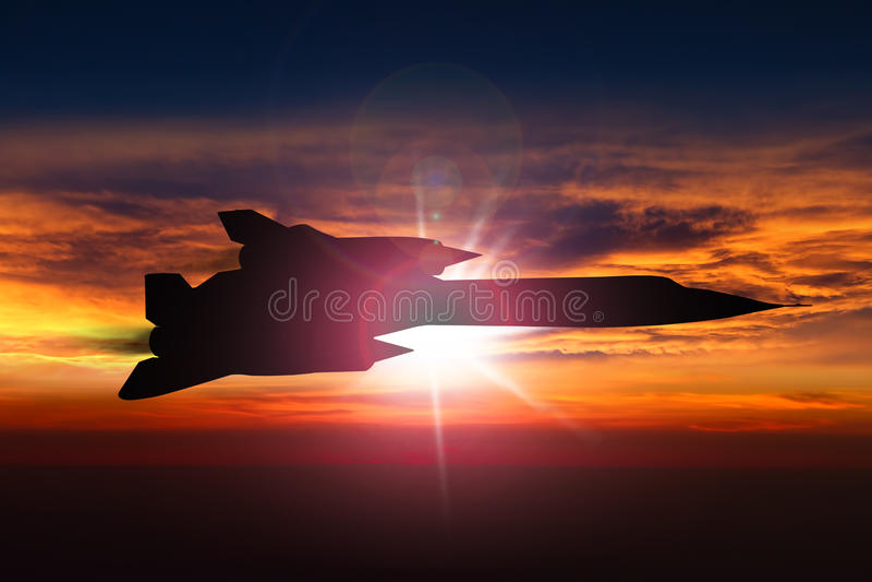 SR-71黑鹂间谍飞机 库存图片