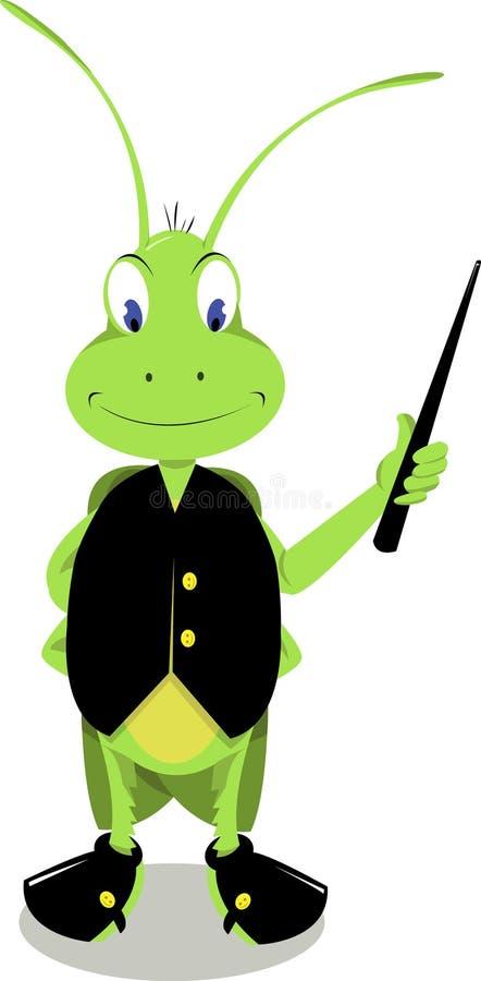 Sr. Críquete Pointing ilustração royalty free