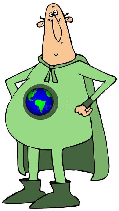 Sr. herói da terra ilustração do vetor