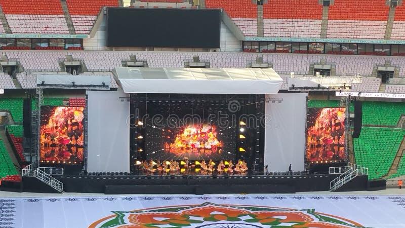 Sr. Modi en el estadio de Wembley fotos de archivo
