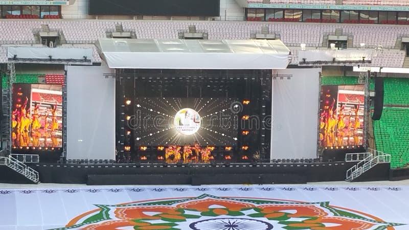 Sr. Modi en el estadio de Wembley foto de archivo libre de regalías