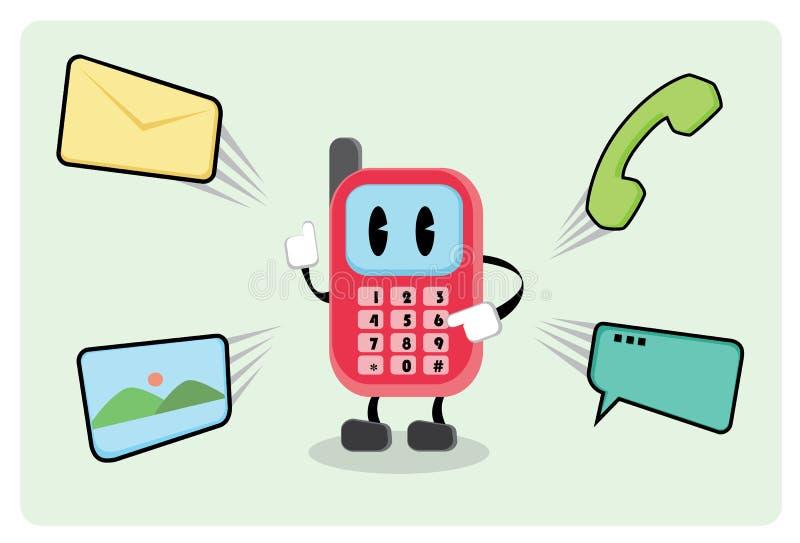 Sr. Smartphone ilustración del vector