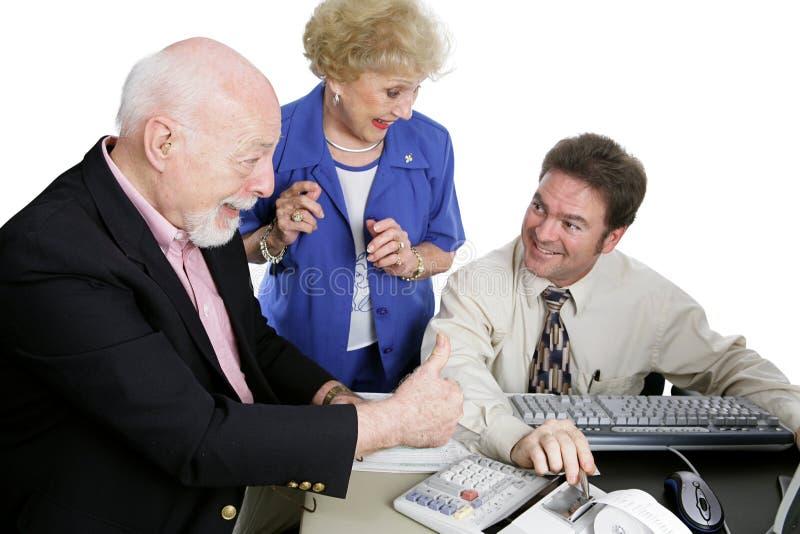 sr thumbsup serii rachunkowości obraz stock