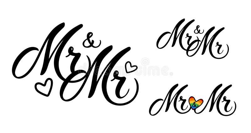 Sr. y Sr. stock de ilustración